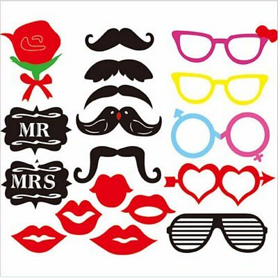 18 X Party Props Selfie Photo Booth for Christmas Wedding Party Birthday B18018