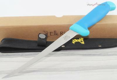 "12.5"" Elk Ridge Blue Nylon Fish Fishing Filet Fillet Camping Hunting Knife"