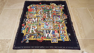"""ABC Learn Pictures Fabric Handcrafted Handmade Quilt Decor Children Teachers 39"""""""
