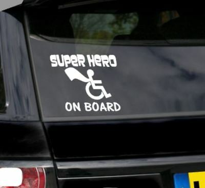 Superhero on Board , Windscreen stickers, Disabled Badge Holder Sticker - Safety