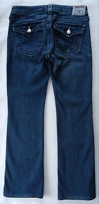 True Religion Ladies Juniors 30 x 31 Jean Denim Blue HEMMED
