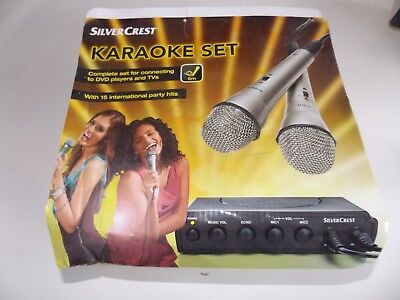 Karaoke Set For DVD Players And TVs With Party Hits 2 Microphones SilverCrest