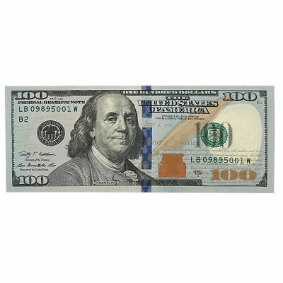 $100 Hundred US Dollar Bill Real Money Lightly Circulated To Uncirculated Note