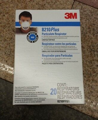 Box 20 New 3M 8210 PLUS N95 Particulate Respirator Mask 8210PPB1 FREE SHIPPING