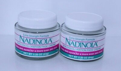 Nadinola Extra Strength Skin Discoloration Fade Cream 2.25 oz (lot of 2)