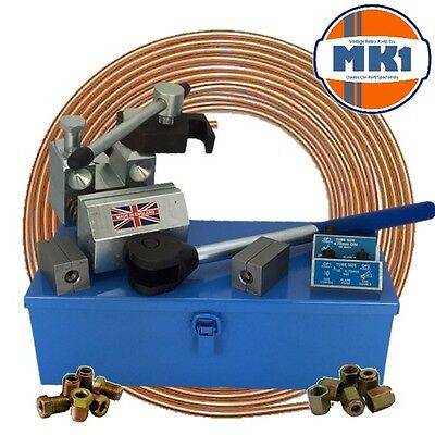 """Professional Brake Pipe Flaring Tool 3/16"""" & 1/4"""" SAE Single and Double Flares"""