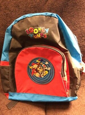 Vintage 1995 Looney Tunes Backpack Bag Purse Bugs Bunny Taz Tweety