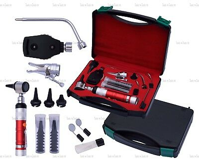 RED Veterinary Otoscope Ophthalmoscope Diagnostic Kit ENT Surgical Instruments