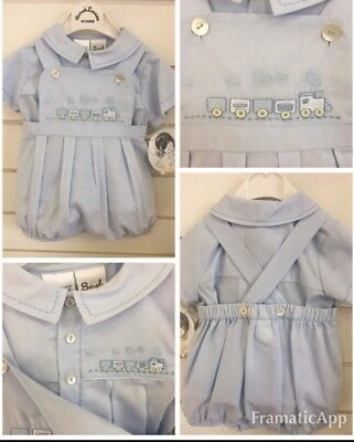 96e0fc7bd BNWT SARAH LOUISE Style 010695 Baby Boys 6month Romper 2pce Set ...