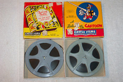 2 Vintage CASTLE FILMS 8mm Tapes Fairy Fable Cartoons & Walter Lantz Cartoon