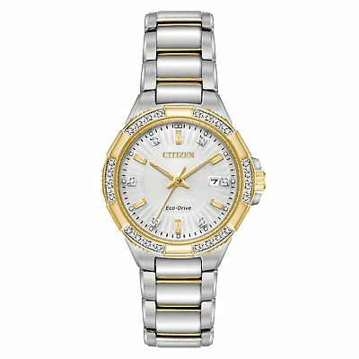 Citizen Eco-Drive Women's EW2464-55A Riva Diamond Accents Two-Tone 30mm Watch