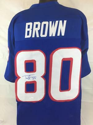 2352674b6 Troy Brown Signed Autographed Jersey Jsa Coa Throwb Patriots Football  Autograph