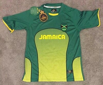 size 40 003d9 b317f JAMAICA NATIONAL SOCCER Team Dri-fit Jersey Orro Football Youth Size 14/16  NWT