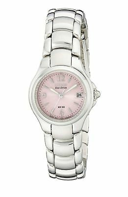 Citizen Eco-Drive Women's EW1170-51X Pink Floral Motif Dial Bracelet 25mm Watch