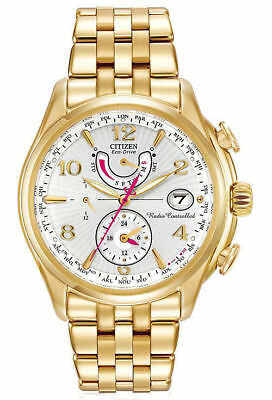 Citizen Eco-Drive Women's FC0002-53A World Time A-T Atomic Chronograph Watch
