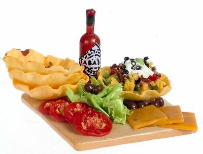 Dollhouse Miniature Tostada Prepping Board by Falcon Miniatures