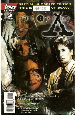 X-Files Akte X Comic USA Topps 3 numbered Edition
