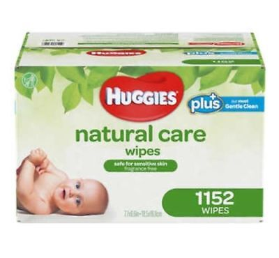 Huggies Natural Care Plus Baby Wipes 1,152-count **Fragrance-Free **Hypoallerge