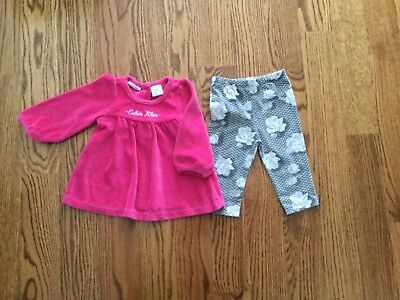 532ee694028a CALVIN KLEIN INFANT Girls Size 0-3 months - 3 two piece Top and ...