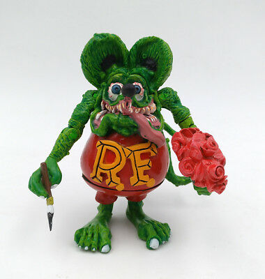 Green Rat Fink Wacky Wobbler Big Daddy Ed Roth Joint Hand Movie Action Figure