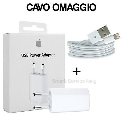 Carica Batteria Originale Per Apple Iphone 5 6 7 8 X Xs Md813Zm/A + Cavo Usb