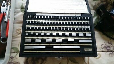 "Starrett RS81B 81 Piece Gage Block Set .05""-4"""