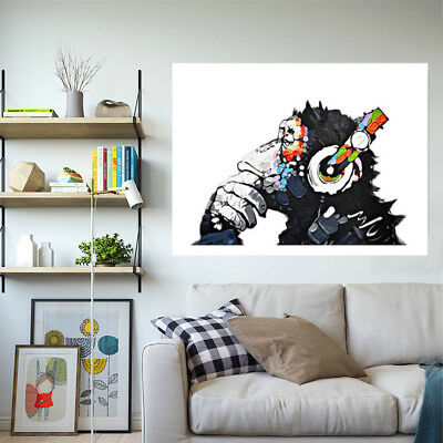 Canvas Painted Abstract Wall Art Oil Painting Print Picture Orangutan 40-60cm