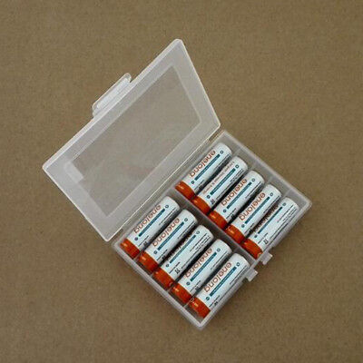 Clear Hard Plastic Battery Case Holder Storage Box Container for  AA/AAA