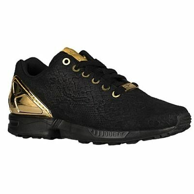 buy popular de01a 8008c ADIDAS ZX FLUX J Black Black Metallic Gold Bb8150 Kid Sizes