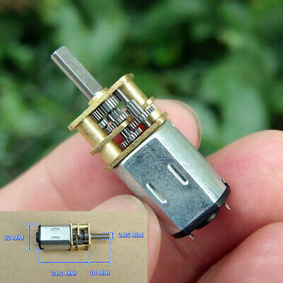 GA12-N20 DC 5V 6V 58RPM Mini 12mm Full Metal Gearbox Gear Motor DIY Robot Car