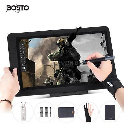 """BOSTO 13 """" HD Graphique Tablet Board Kit 8GB USB Dish +Rechargeable Stylo +Glove"""