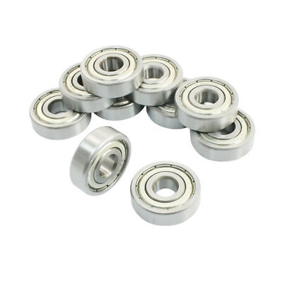 10 Pcs 6200Z 10 x 30 x 9mm Single Row Sealed Deep Groove Ball Bearings