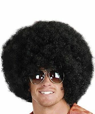 1 Super Black Afro Costume Wig Big 70s Disco Clown Halloween Fancy Dress Unisex