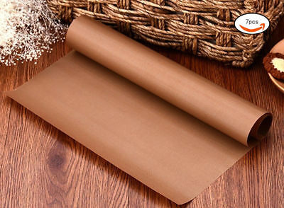 7pcs 40*30 Baking Mat Teflon Sheet Heat Resistant Non Stick Oil-proof Paper