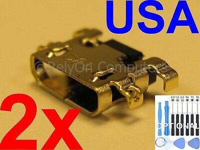 2x USB Charging Port Micro Sync For Amazon Kindle Fire HD8 SX034QT 7th Gen 2017