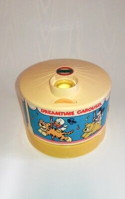 Vintage Disney Dreamtime Carousel Light Sound Projector Mickey Mouse  1988 works