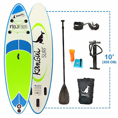 Kangui - Stand up Paddle 305cm SUP gonflable + pagaie + sac à dos + pompe haute