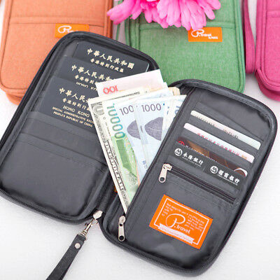 Family Wallet Passport Holder Document Organizer Bag Cards Pouch Money IDs hot