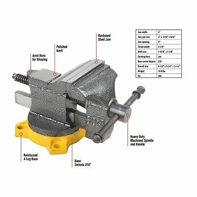 Olympia Tool 38-604 4-Inch Bench Vise New