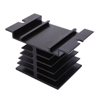 Aluminum Heat Sink 80 x 50 x 50mm For Solid State Relay Heat Dissipation