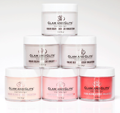 Glam and Glits Acrylic Nail Powder COLOR BLEND Collection 2oz OMBRE