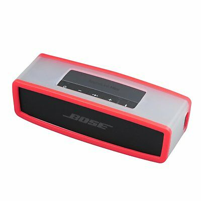 Red Cover Silicone Carry Case Bag For SoundLink Mini Speaker