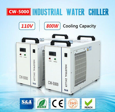 US 110V S&A Industrial Water Chiller CW5000 for 5KW Spindle/Wood Carving Machine