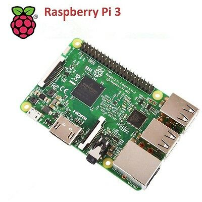 Raspberry Pi 3 Model B Quad Core 1.2GHz 64bit CPU 1GB RAM DSP WiFi Bluetooth 4.1