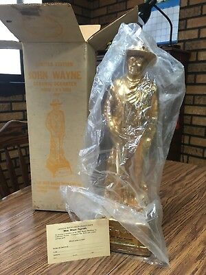 "Vintage John Wayne ""Gold Finish"" Limited Edition Whiskey Ceramic Decanter"