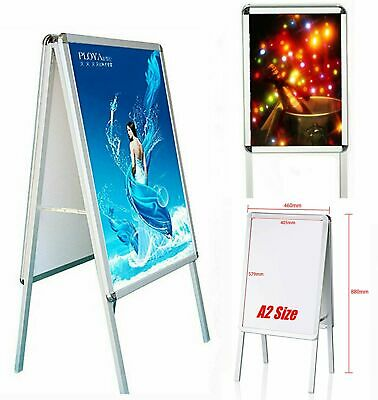 A2-Board Pavement Sign Snap Frame Aluminium Poster Display Stand  Double Side UK