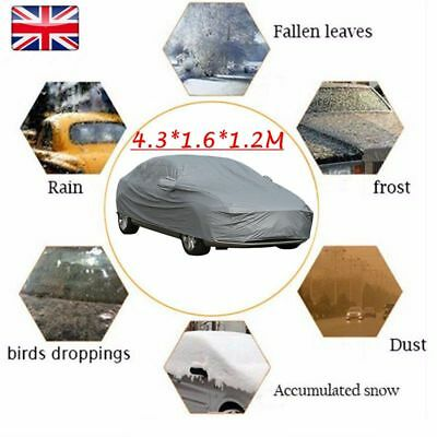 100% Waterproof Size M Medium Full Car Cover Breathable UV Protection Outdoor UK