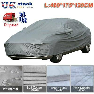 100% Waterproof S Small 2 Layer Full Car Cover Breathable UV Protection Outdoor