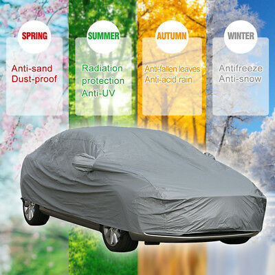 Small S 2 Layer Heavy Duty Waterproof Full Car Cover Cotton Lining UV Protection