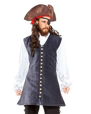 Pirate Captain Bridge Vest Made From (velvet) fabric & and the satin lining